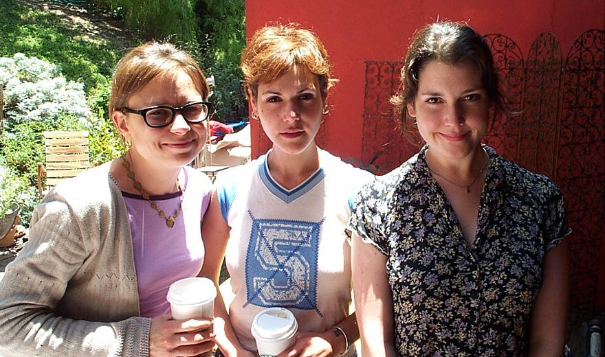 From left: Mary Lynn Rajskub, Sheeri Rappaport, Melanie Lynskey